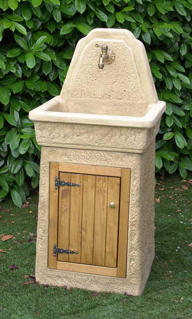 Idra arredo giardino lavello fringuello tufo idra arredo - Lavelli in pietra da giardino ...